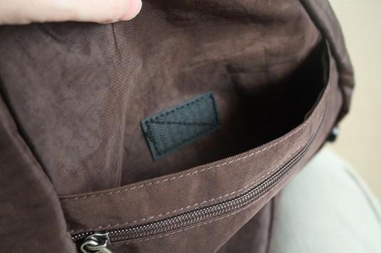 ヘルシーバックバッグのポケット