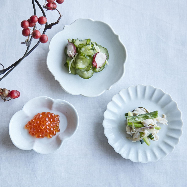 KIHARA/古白磁 木甲豆鉢