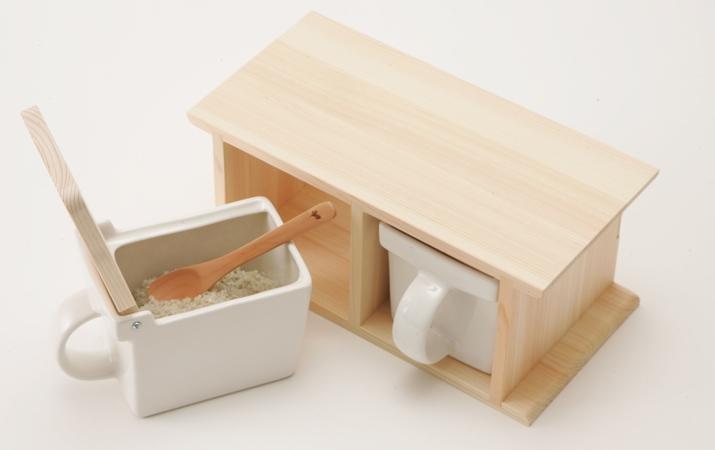 ヒノキ×陶器は北欧感バッチリ