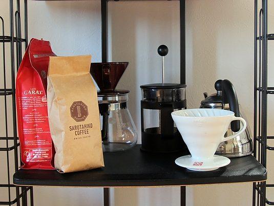 コーヒー器具とよく使っているコーヒー豆