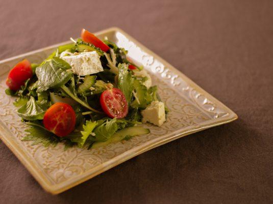 Lotus plate square olive