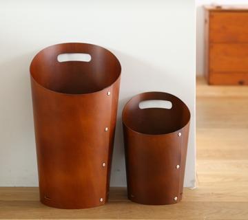 お部屋に溶け込む木製のダストボックス