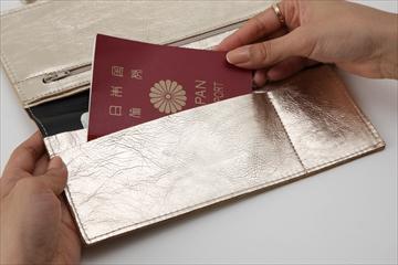パスポートも通貨もしまえる便利ポーチ