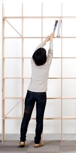 これ1つで書斎気分!壁一面の本棚