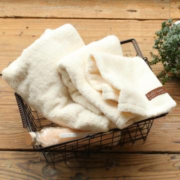 綿畑からオーガニックのフェイスタオル