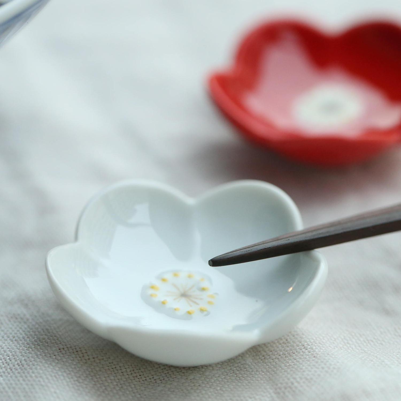 京千/紅白小花の箸置きセット